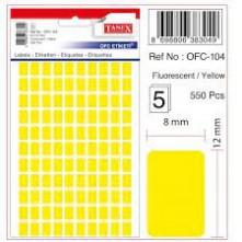 Tanex Etiket Ofc-104 Sarı 5 Li