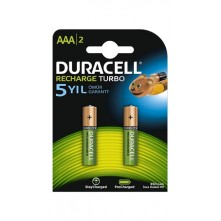 Duracell Şarj Edilebilir İnce Kalem Pil AAA 2Li