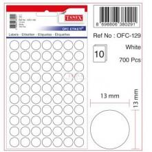 Tanex Etiket 10Lu Ofc-129
