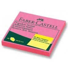 Faber Castell Yapışkanlı Not Kağıdı 50X50 Pembe