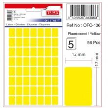 Tanex Etiket 10Lu Ofc-106 Sarı