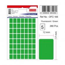 Tanex Etiket Ofc-106 12X17 Yeşil 5 li