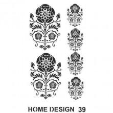 Hds39 Artebella Home Desıngn Stencıl 35x50 Cm