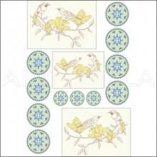 945k Artebella Soft Transfer Koyu Zemin 23x34 cm